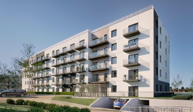 Kompleks mieszkaniowo-usługowy Gdańskie Tarasy na ulicy Kartuskiej w Gdańsku