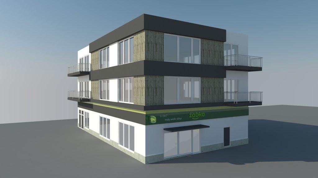 Budynek mieszkalno-handlowy na ulicy Emilii Hoene w Gdańsku